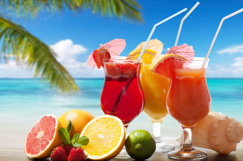 ice, drinks, fruits, summer, outdoor
