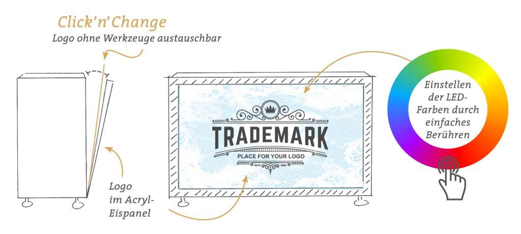 ice, icebar, individuell, branding